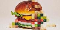 Cheeseburger deluxe, extra pixels