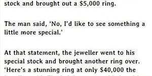 Got her a stunning $40k ring.