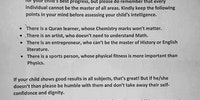 This school letter to parents right before the exam is awesome