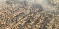 California suburb destroyed by fire