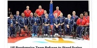 US Paralympics team has no respect for the flag.