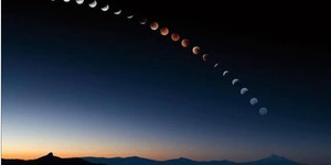 The moons phases.