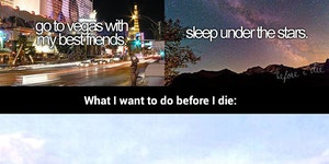 What most people want to do before they die.