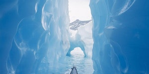 Canoeing in glaciers.