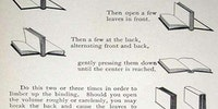 How to properly open a book.