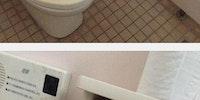 Toilet paper art.