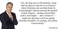 Jon Stewart on the War on Christianity.