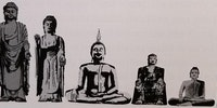Size comparison of the Statue of Liberty to the world's five largest buddhas.