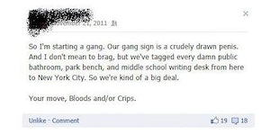 I'm in a gang now.