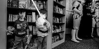 Fighting stormtroopers in a bookstore