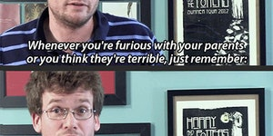Whenever you're furious with your parents...