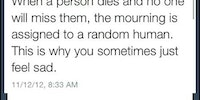 When a person dies and no one will miss them...