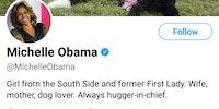 Michelle Obama's bio is wholesome.