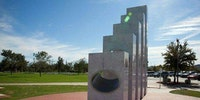 At exactly 11:11 a.m. every Veteran's Day (Nov. 11), the sun aligns perfectly with the Anthem Veteran's Memorial in Arizona to shine through the ellipses of the five marble pillars representing each branch of the Armed Forces