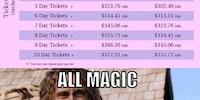 Walt Disney Ticket Prices