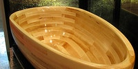Magnificent Wooden Bathtub