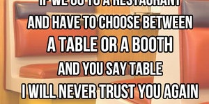 Table Or Booth