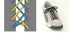 Several ways to tie shoes.