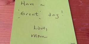 Kid's response to a mom's sweet note.