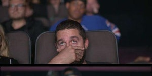 Shia LaBeouf face palmed so hard while watching the Transformers