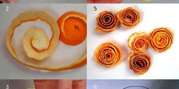 Orange peel art.