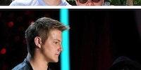 Josh Hutcherson with other celebrities.
