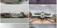 """""""The Caspian Sea Monster"""" this one of a kind creation was built for the sole purpose of destroying aircraft carriers"""