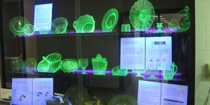 Uranium glass is a thing. I'd eat off it.