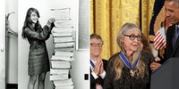 Margaret Hamilton, who helped code the software that got Apollo 11 on the Moon was awarded a Medal of Freedom.