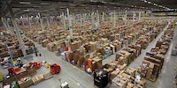 What it looks like inside an Amazon distribution center.