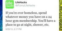 If you're ever homeless...