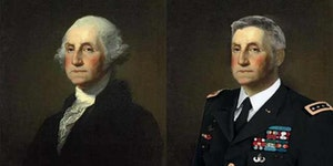 George Washington with a modern hair style.
