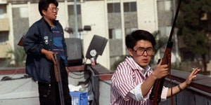 Koreans protecting their business from looters during the 1992 LA riots