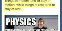 ...because physics.