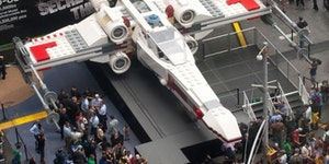 Life-size Star Wars X-Wing made out of 5 million Legos