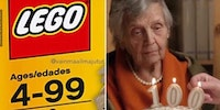When you turn 100 and can't play with Lego's anymore