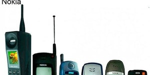 Evolution of mobile phones.