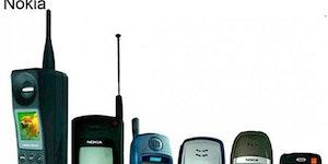 Evolution of mobile phones.