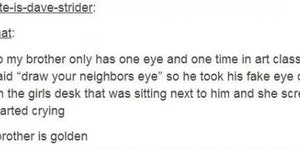 Draw your neighbors eye.