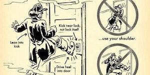 How to break down a door.