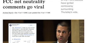 Fake comments on the fcc net neutrality page.