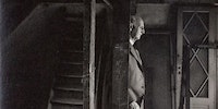 Anne Frank's father Otto revisiting the attic where they hid from the Nazis.
