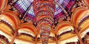 82ft Upside Down Christmas Tree, Paris France