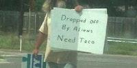 Get this man a taco!