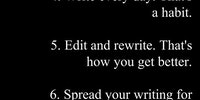Six steps to becoming a writer.