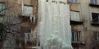 Burst water pipe + Russia