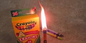 Emergency crayon candle!