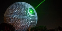 Spaceship Earth at Epcot in Walt Disney World was turned into the Death Star