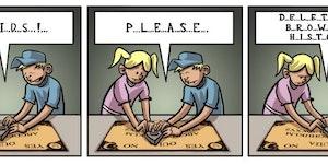 Playing Ouija.
