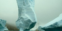 An iceberg in Wilson Harbor, Falkland Islands